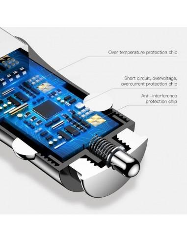 Snabb laddare för bil med 2st USB uttag QC3.0 (30W)