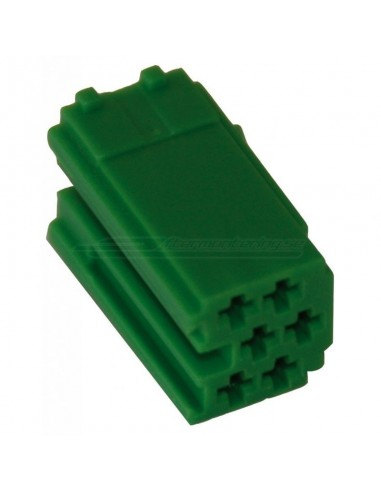 MINI-ISO delad 6pin grön (hane)