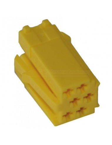 MINI-ISO delad 6pin gul (hane)