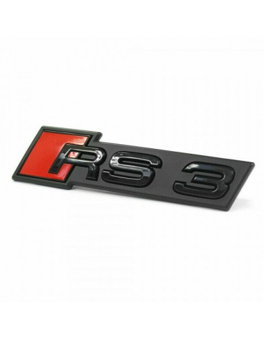 Svart RS3 grill-emblem för Audi A3,...