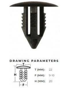 Plast-clips för Rover,...