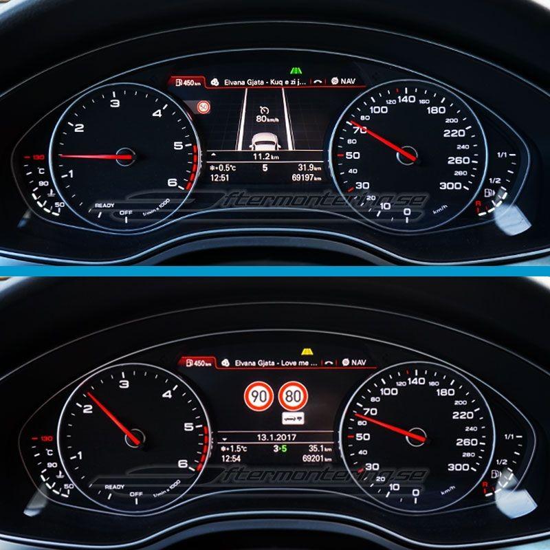 Traffic Sign Recognition I Audi A6 / A7 4G (vägmärkes