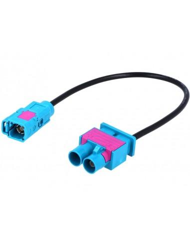 Antenn-adapter fakra (dubbel till enkel)