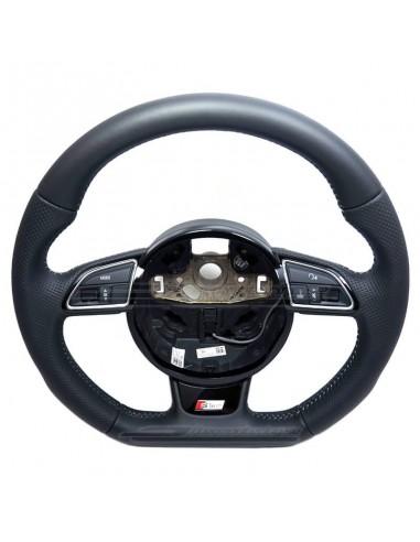 Perforerad Audi S sport-ratt