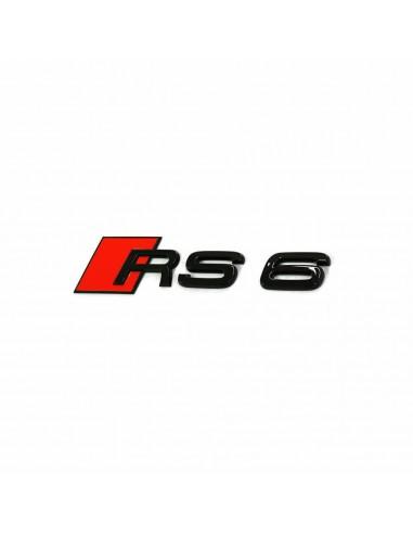 Svart RS6 bagage-emblem för Audi A6,...