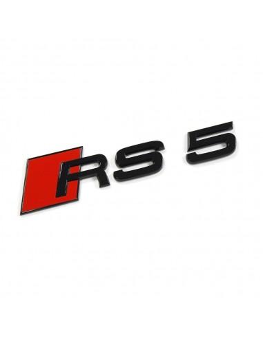 Svart RS5 bagage-emblem för Audi A5,...