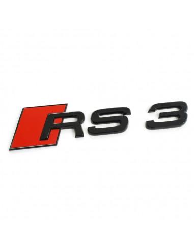 Svart RS3 bagage-emblem för Audi A3,...