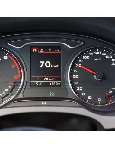 Hel-perforerad Audi RS6 sport-ratt för A3, A4, A5, A7 mm.