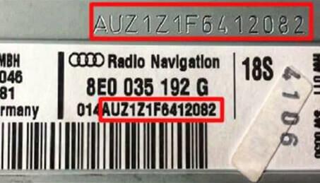 Radiokod sökning Audi Volkswagen Skoda SEAT
