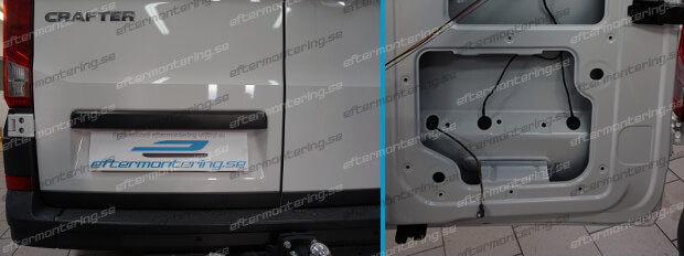 Installera backkamera Volkswagen Crafter SZ / SY