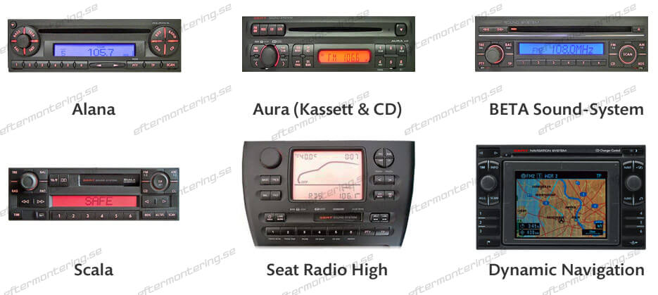 SEAT AUX-in uttag installera 8PIN
