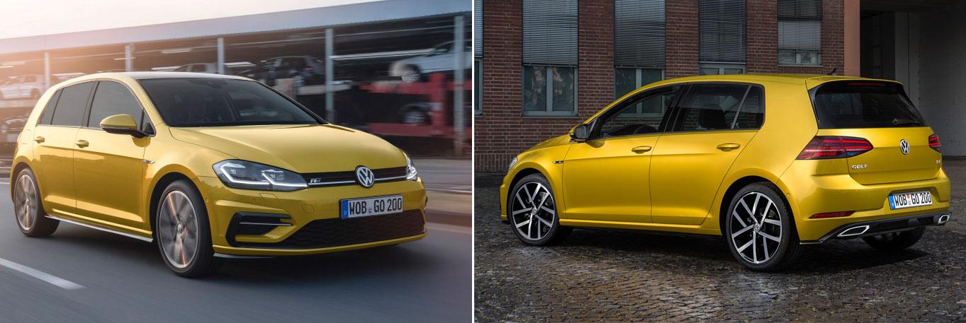 Nya VW Golf 7 (MK7) facelift 2017 nyheter