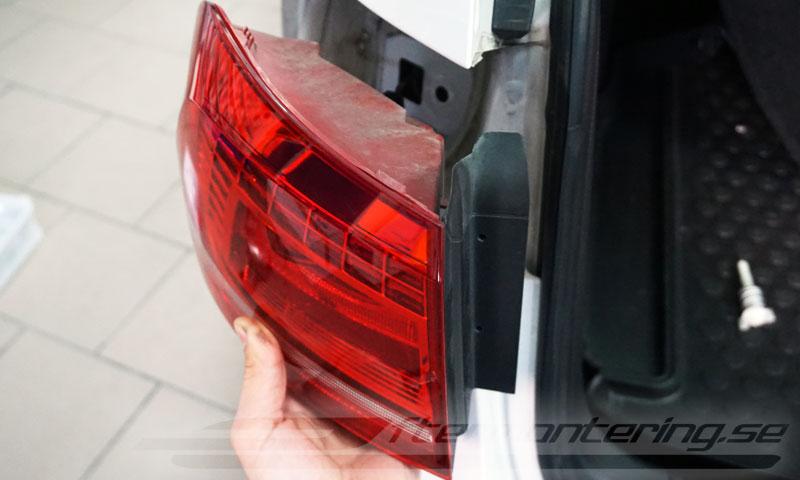 Eftermontering av backkamera i Volkswagen Passat B6