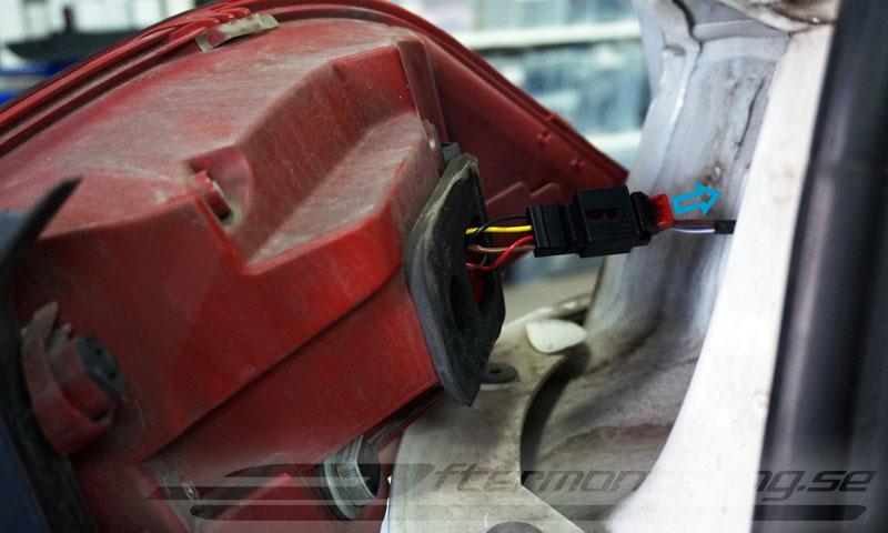 Installation av backkamera i Volkswagen Golf Passat Jetta Tiguan