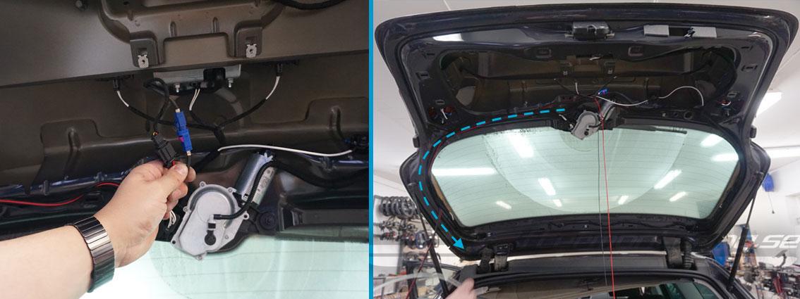 VW Passat B7 backkamera eftermontering