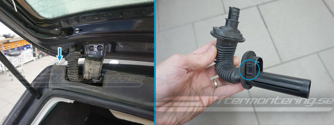 Montera original VW backkamera i Passat, Golf, Jetta, Tiguan mm.