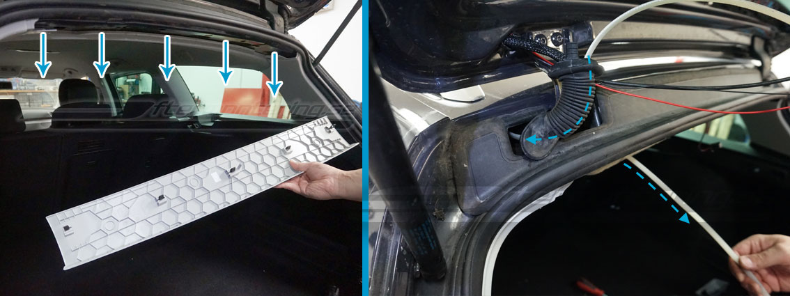 Hur installera VW Passat B7 bakkamera
