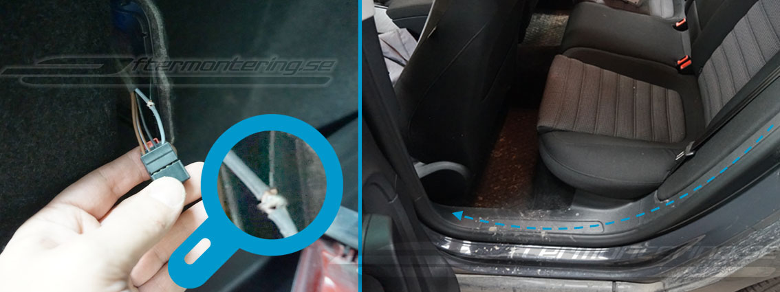 Volkswagen Passat 2010 - 2015 original backkamera installation