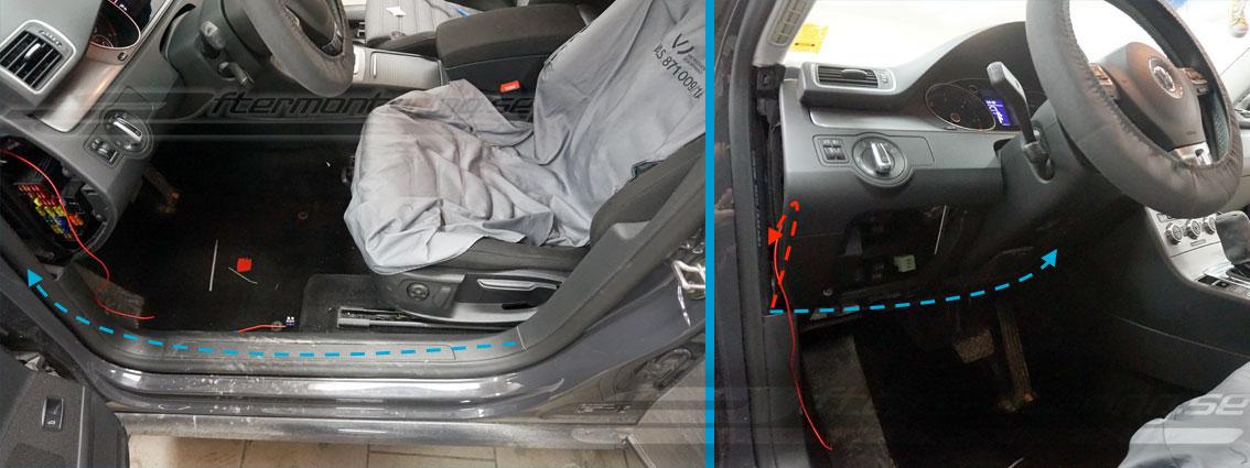 Volkswagen back-kamera installation