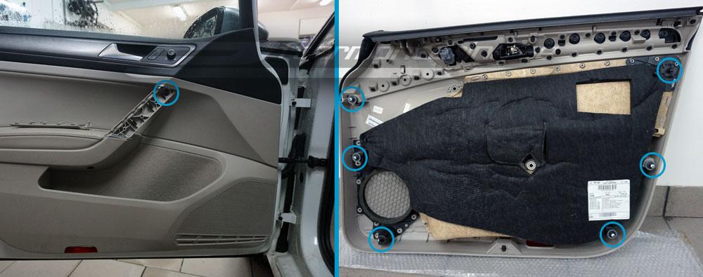 Installera högtalare i Volkswagen Golf 7 2013