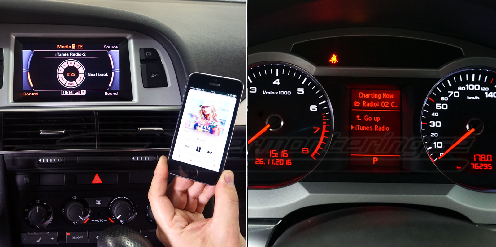 Aktivera bluetooth musik i Audi original radio
