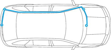 Installera backkamera Volkswagen Transporter T6 2015 - 2016