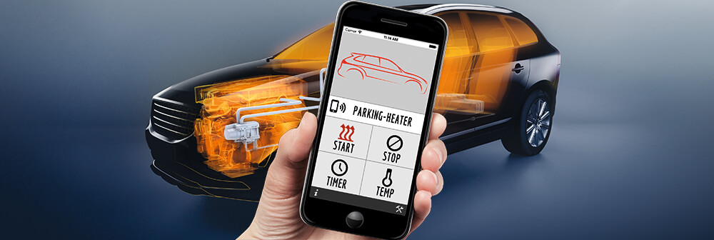 SMS APP GSM Telefon Smartphone iPhone styrning parkeringsvärmare