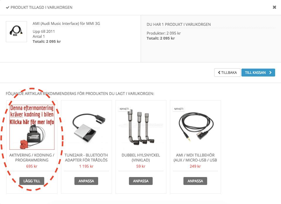 Programmering / kodning av eftermontering i Audi VW Skoda SEAT