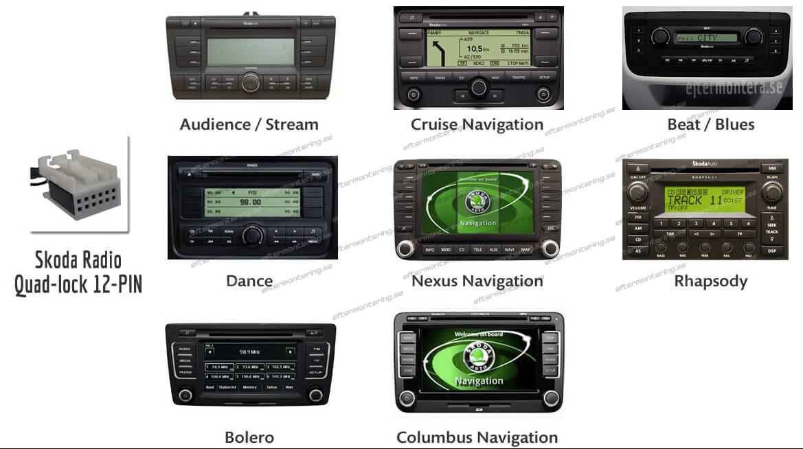 skoda radioenheter