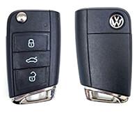 Volkswagen nyckel fodral skydd silikon hölje