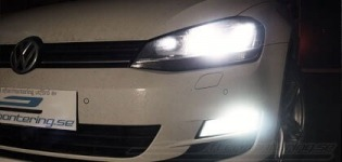 LED dimljus i Volkswagen Golf 7